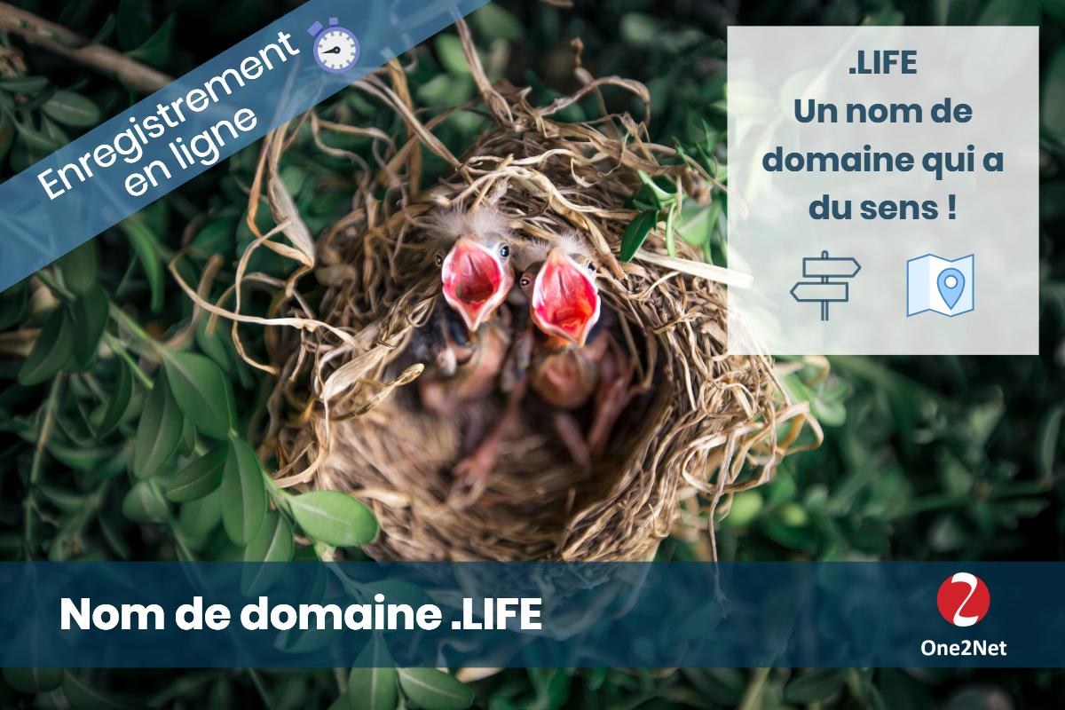 Nom de domaine .LIFE - One2Net
