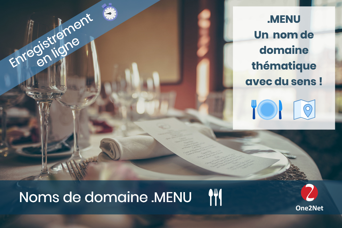 Nom de domaine .MENU - One2Net