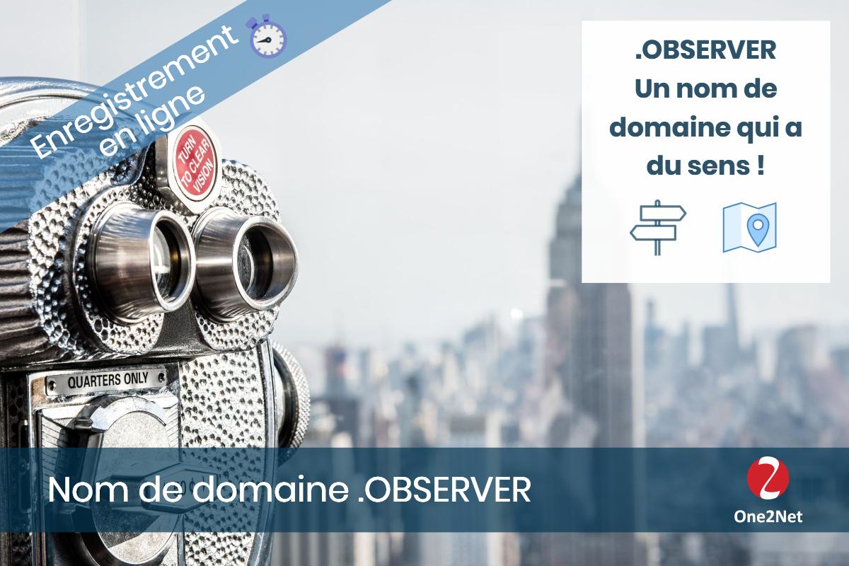 Nom de domaine .OBSERVER - One2Net