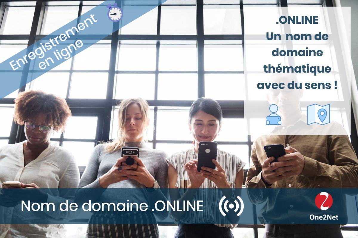 Nom de domaine .ONLINE - One2Net