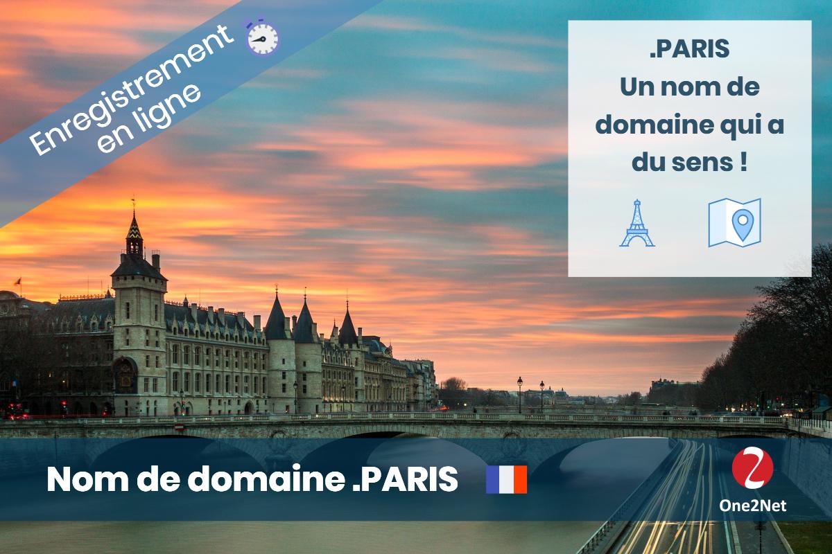 Nom de domaine .PARIS (ville de Paris) - One2Net