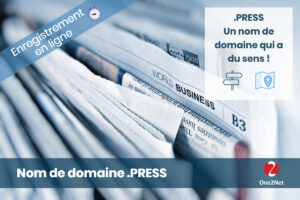 Nom de domaine PRESS