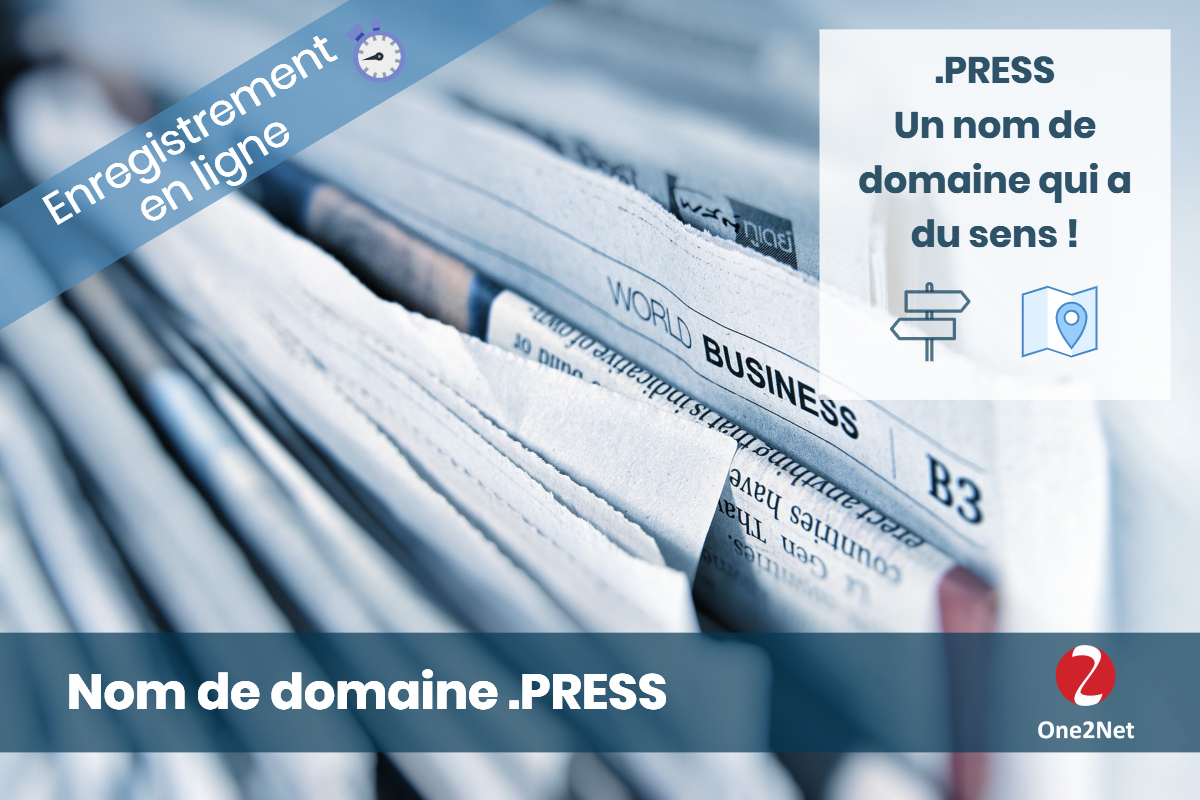 Nom de domaine .PRESS - One2Net