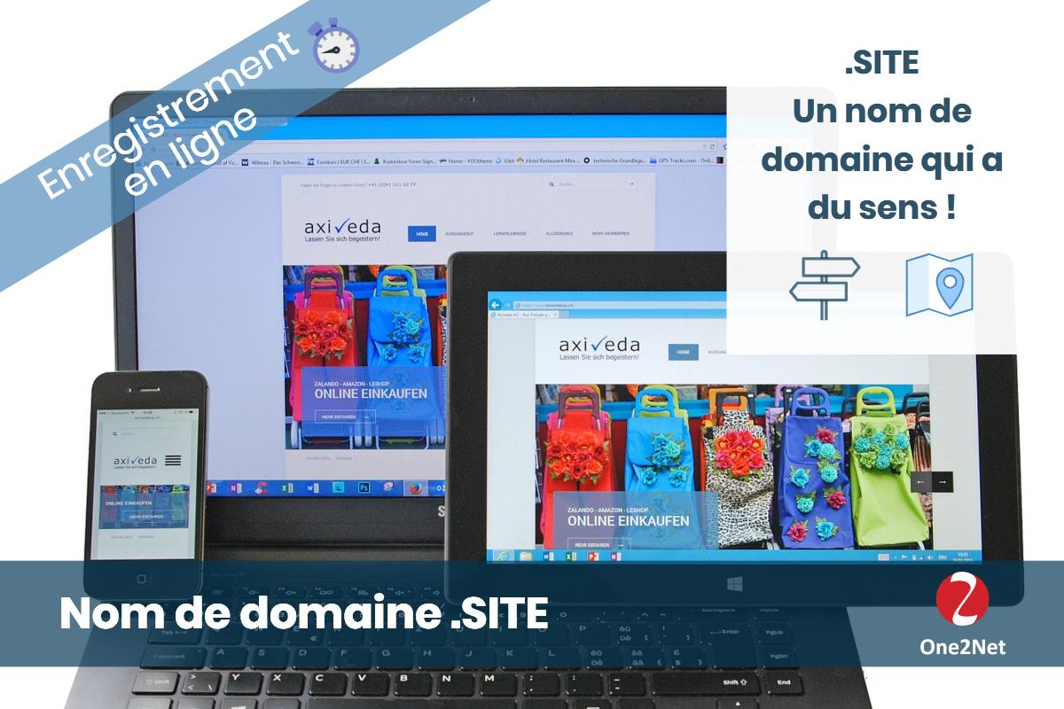 Nom de domaine .SITE - One2Net