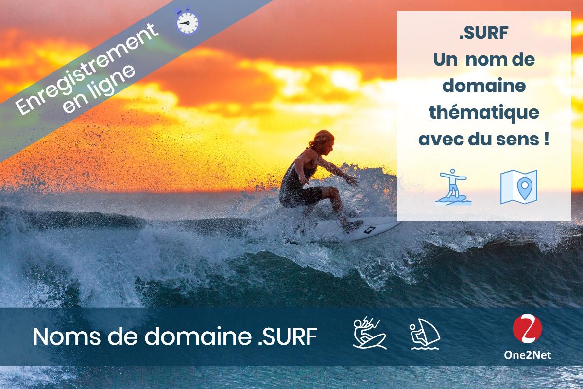 Nom de domaine .SURF - One2Net