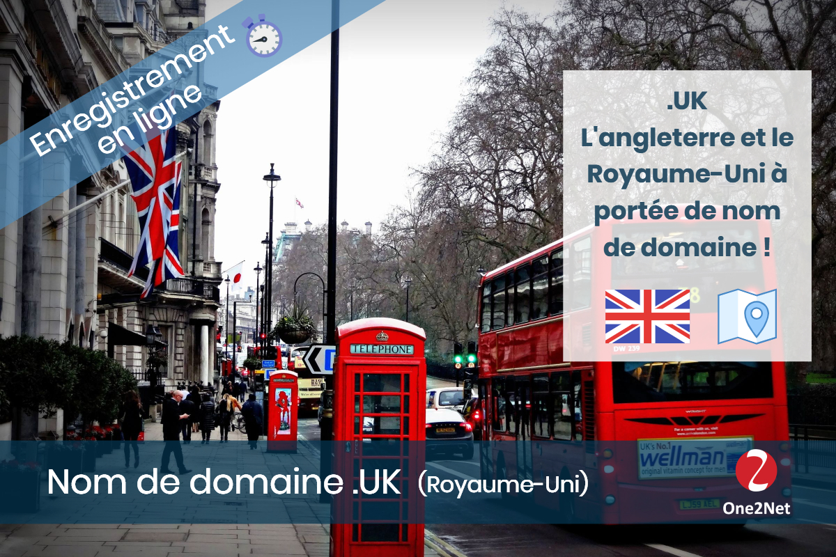 Nom de domaine .UK (Angleterre) - One2Net