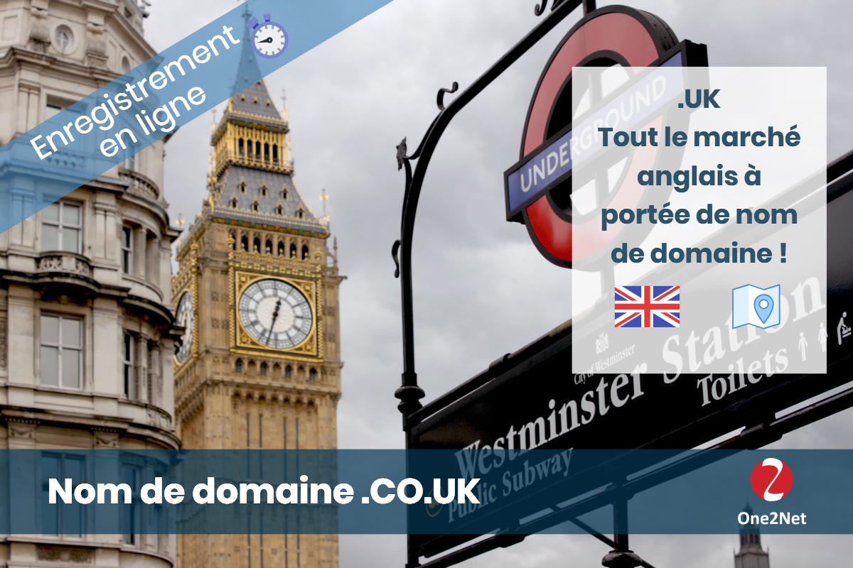 Achat de nom de domaine CO.UK (Angleterre) - One2Net