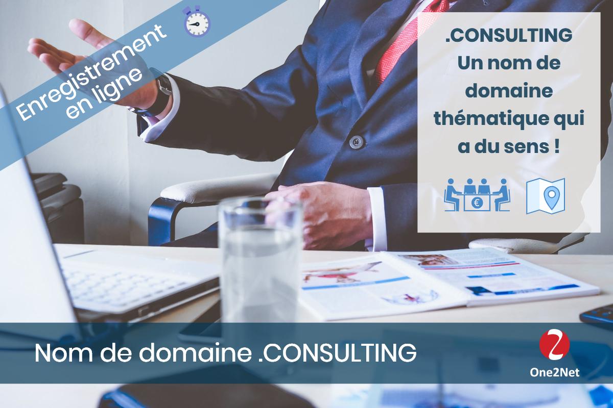 Nom de domaine .CONSULTING - One2Net