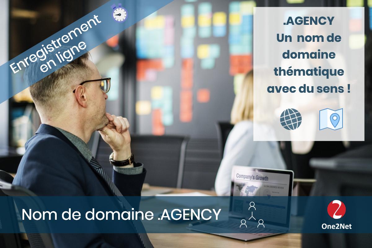 Nom de domaine .AGENCY - One2Net