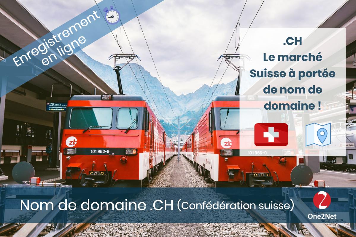Nom de domaine .CH (Confédération Suisse)  - One2Net