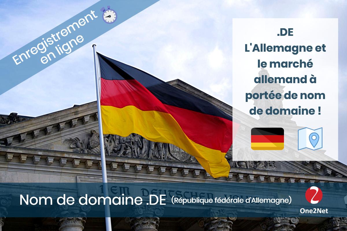 Nom de domaine .DE (République fédérale d'Allemagne) - One2Net