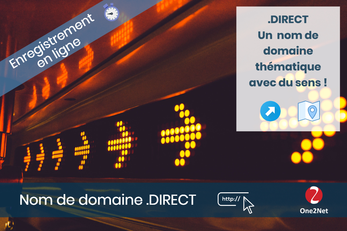 Nom de domaine .DIRECT - One2Net