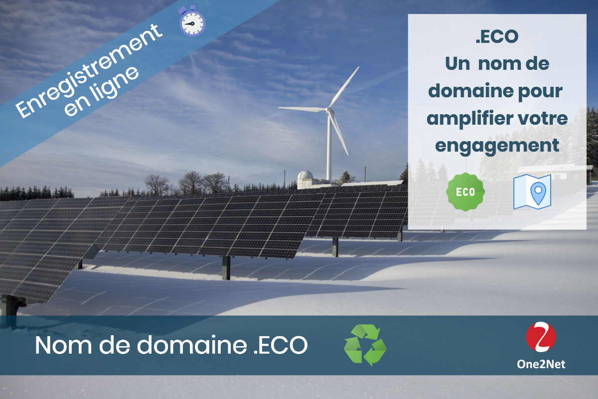 Nom de domaine .ECO - One2Net