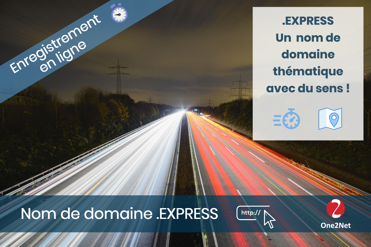 Nom de domaine .EXPRESS - One2Net