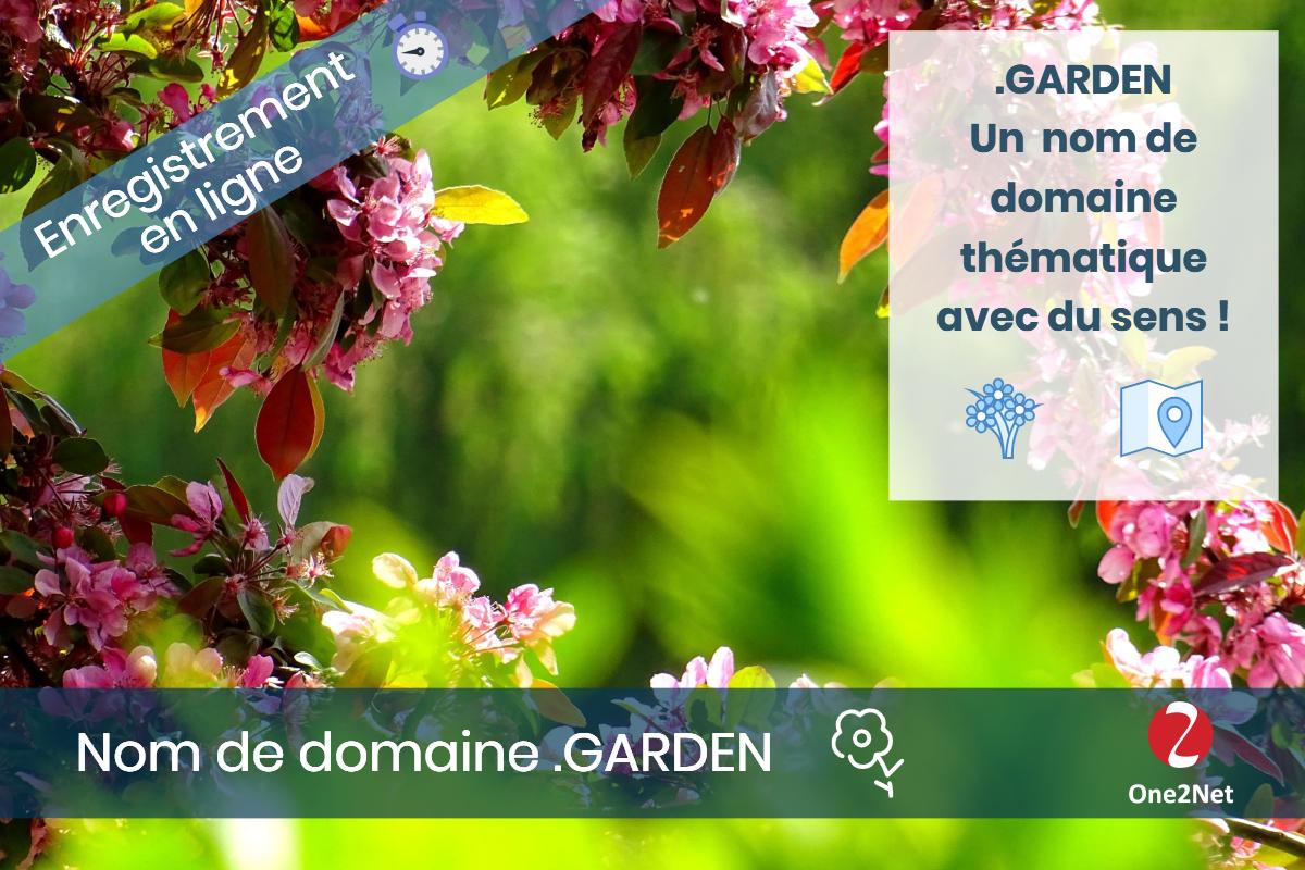 Nom de domaine .GARDEN (Jardin) - One2Net