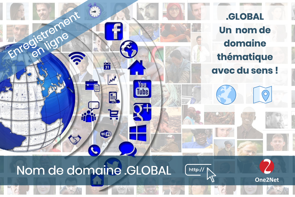 Nom de domaine .GLOBAL - One2Net