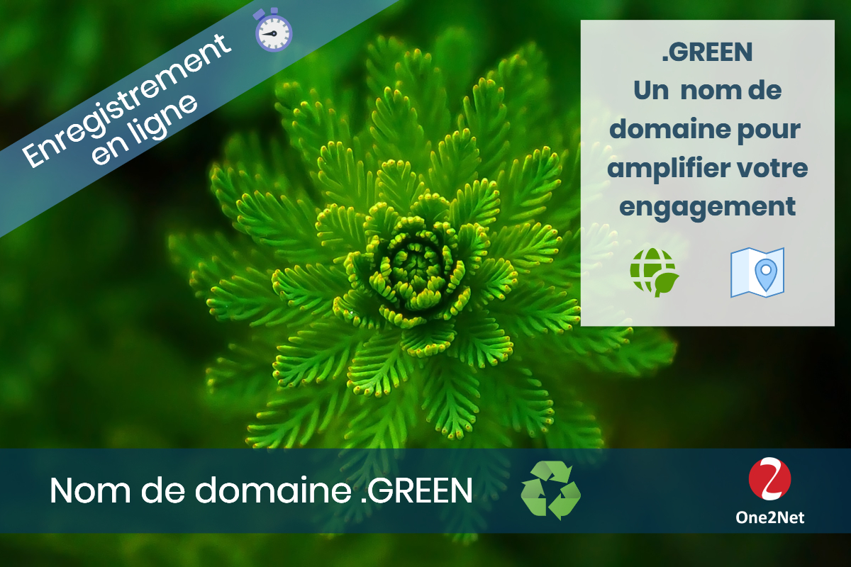 Nom de domaine .GREEN - One2Net