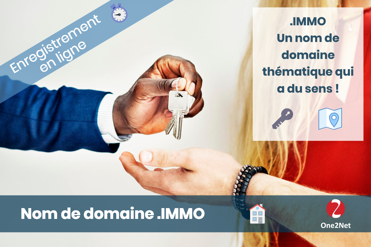 Nom de domaine .IMMO (Immobilier), One2Net France