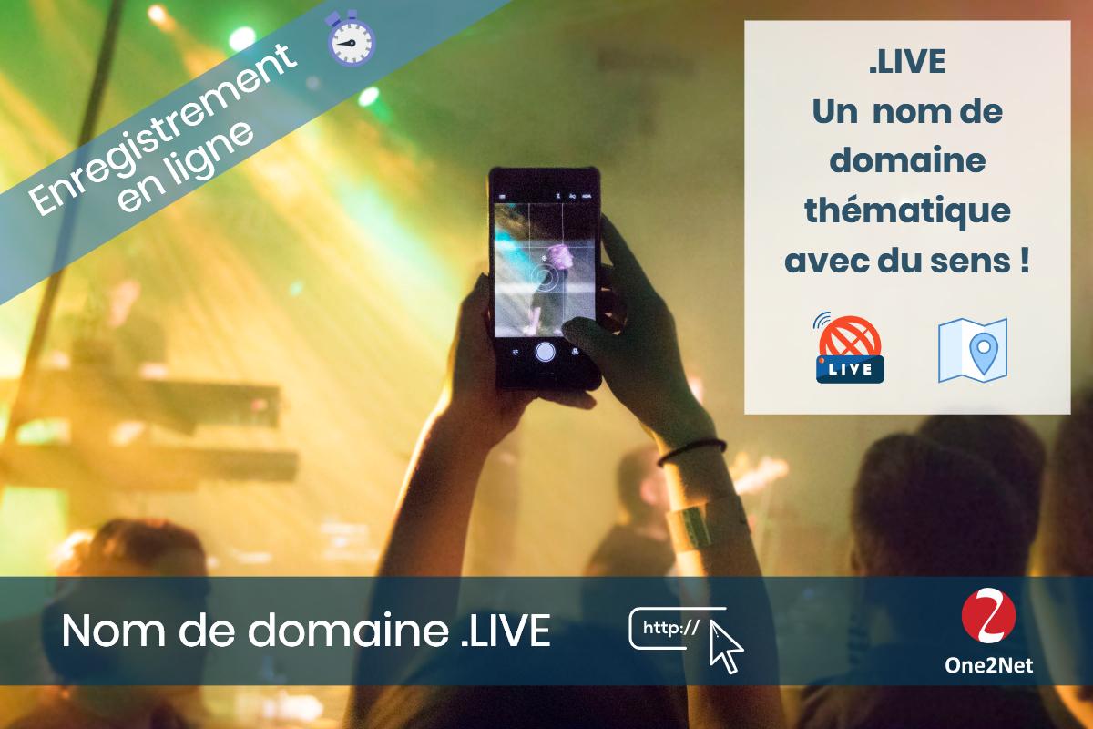 Nom de domaine .LIVE - One2Net