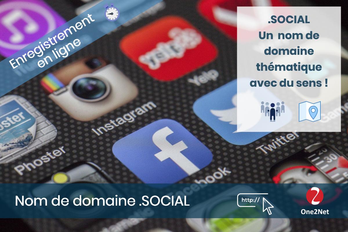 Nom de domaine .SOCIAL - One2Net
