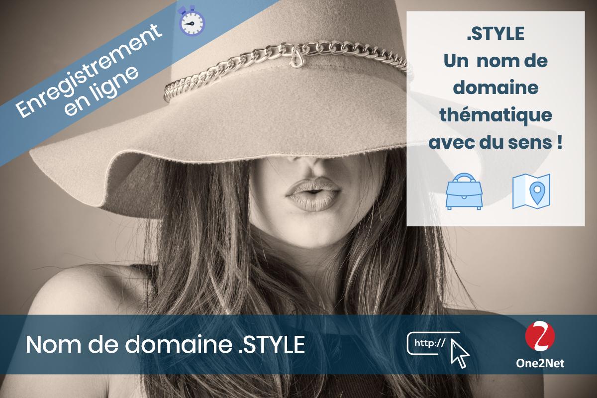 Nom de domaine .STYLE - One2Net