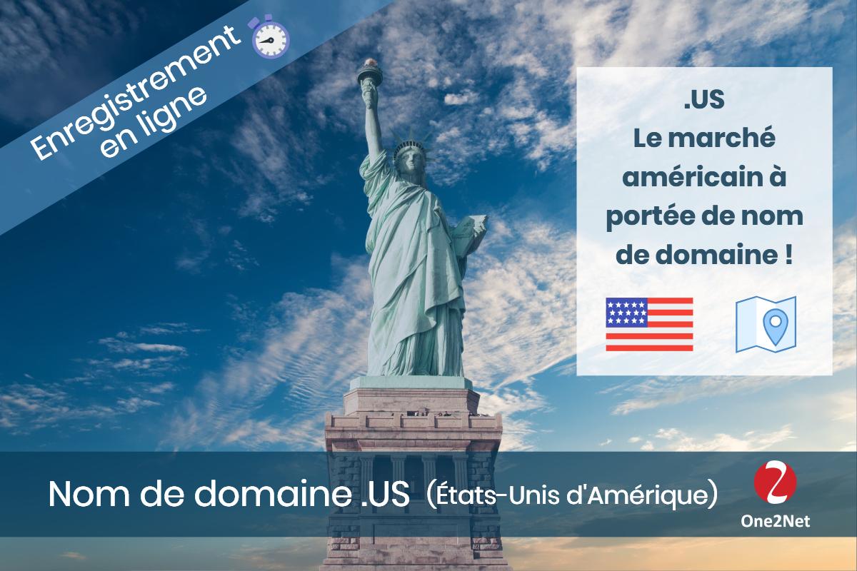 Nom de domaine américain US Etat-Unis, One2Net France