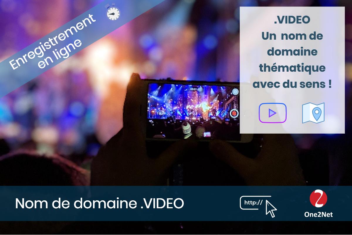 Nom de domaine .VIDEO - One2Net