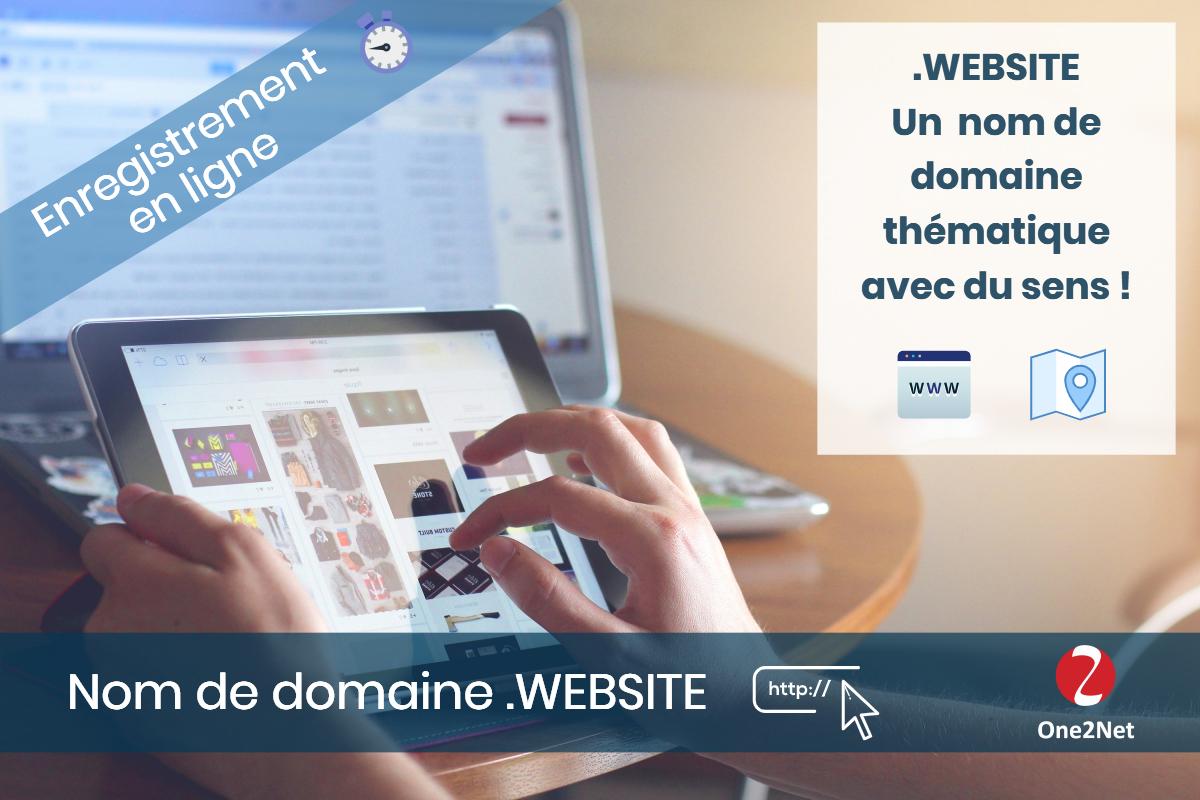 Nom de domaine .WEBSITE - One2Net