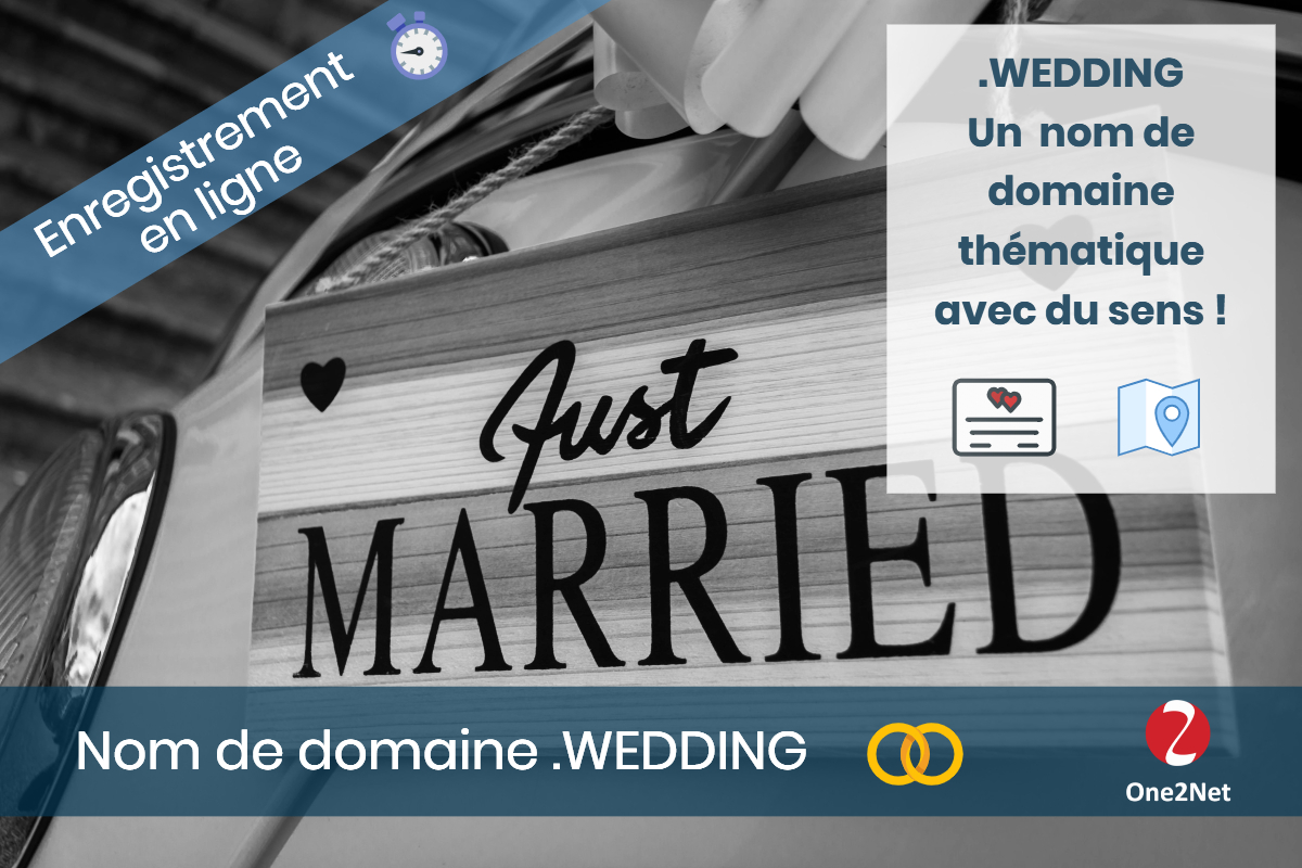 Nom de domaine .WEDDING (mariage), One2Net France