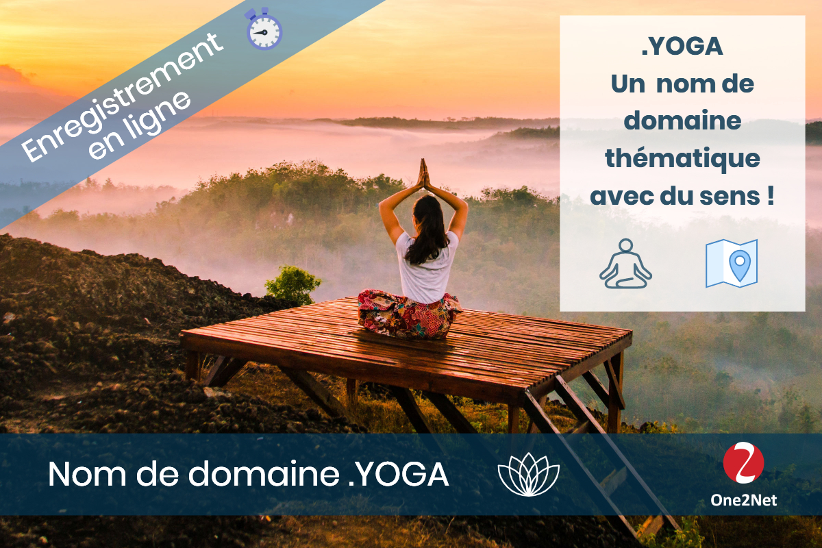 Nom de domaine .YOGA - One2Net