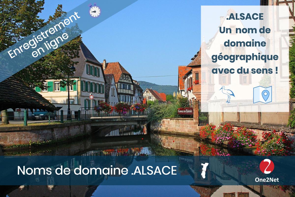 Nom de domaine .ALSACE (région Alsace) - One2Net
