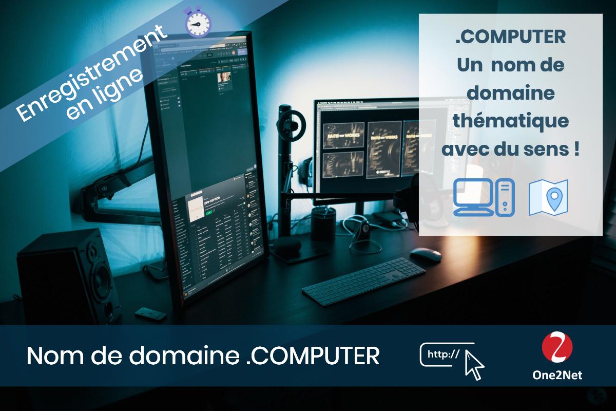 Nom de domaine .COMPUTER - One2Net