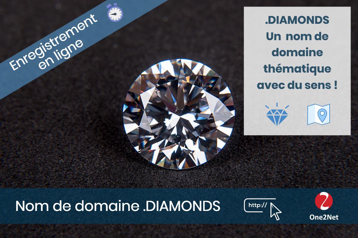 Nom de domaine .DIAMONDS - One2Net