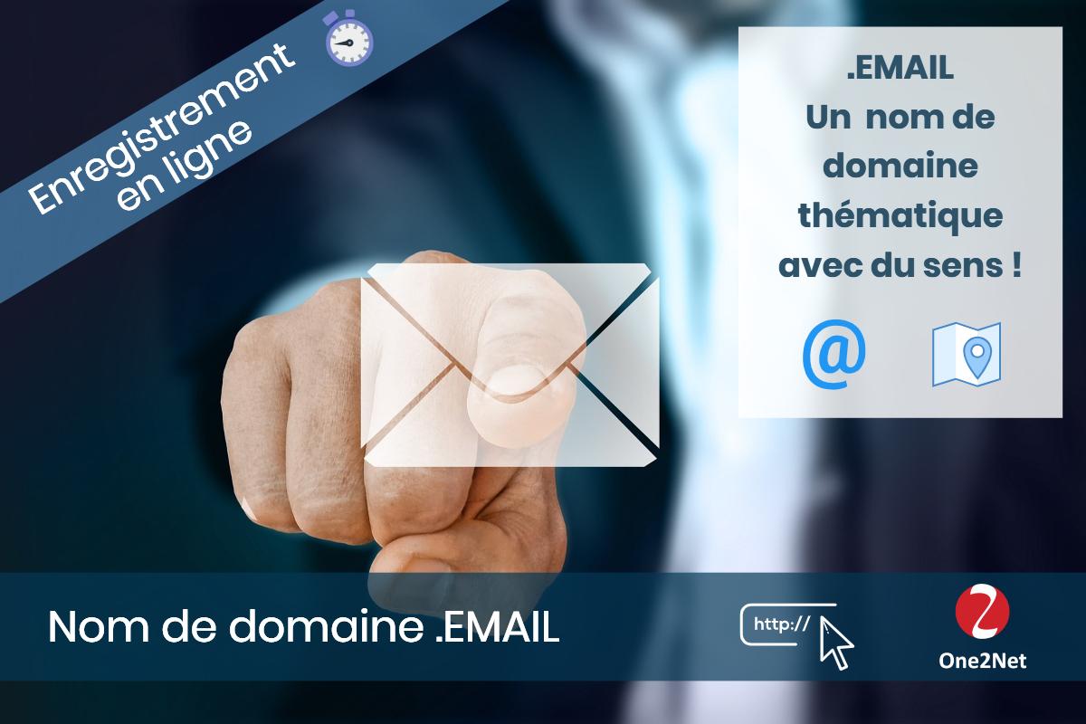 Nom de domaine .EMAIL - One2Net
