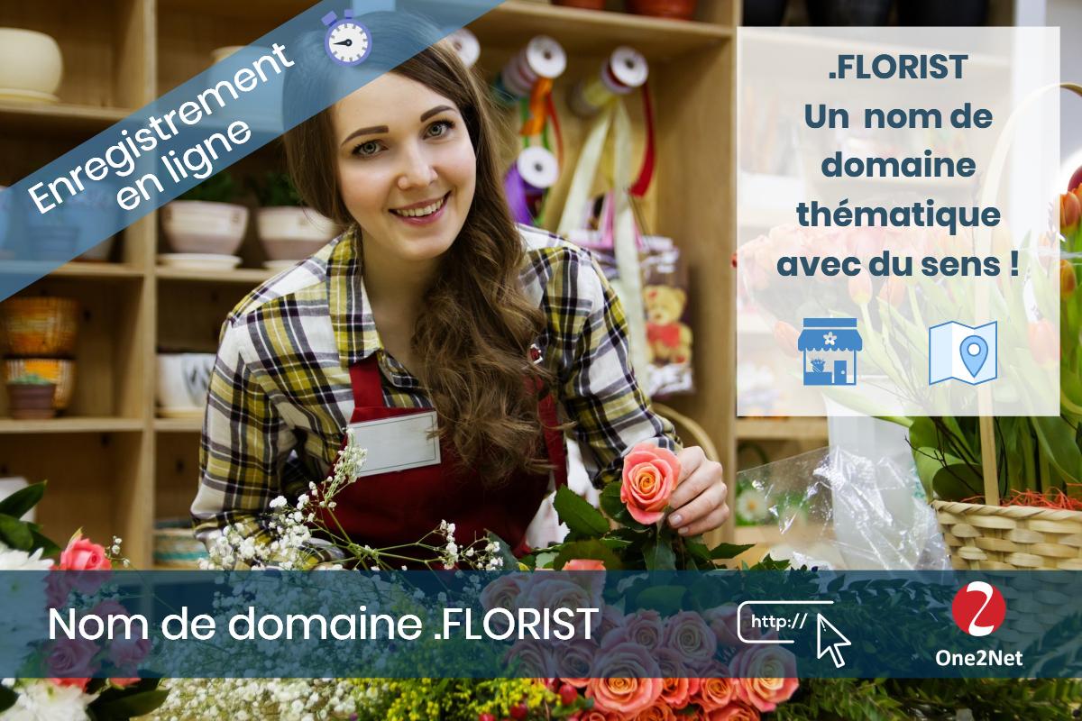 Nom de domaine .FLORIST - One2Net