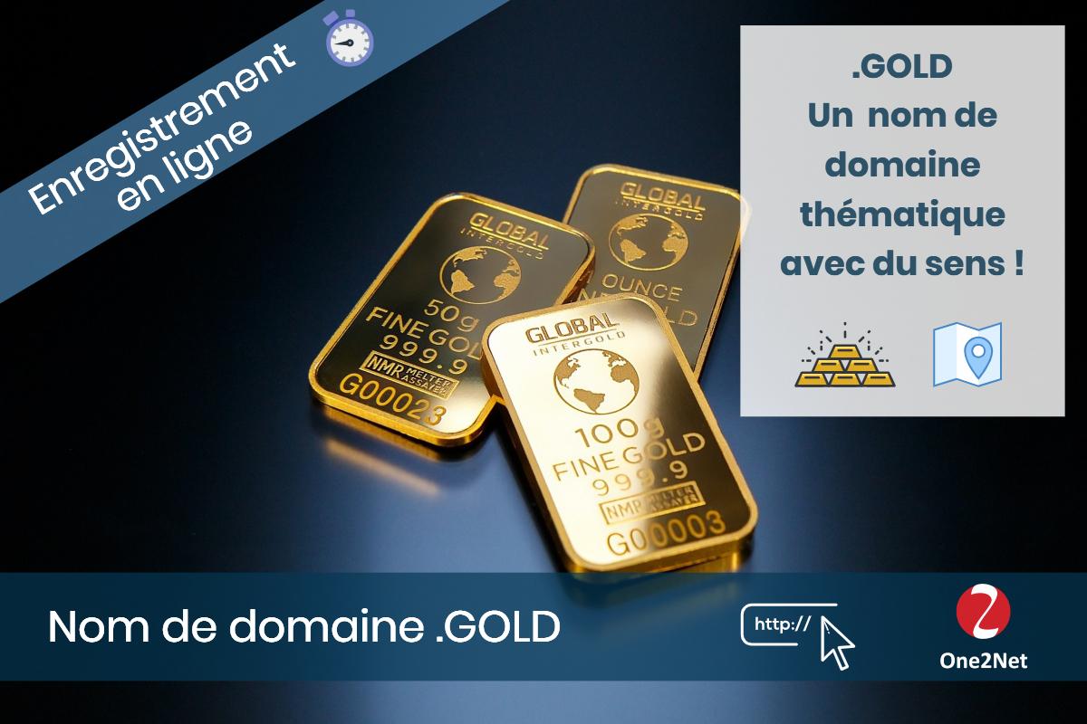 Nom de domaine .GOLD - One2Net