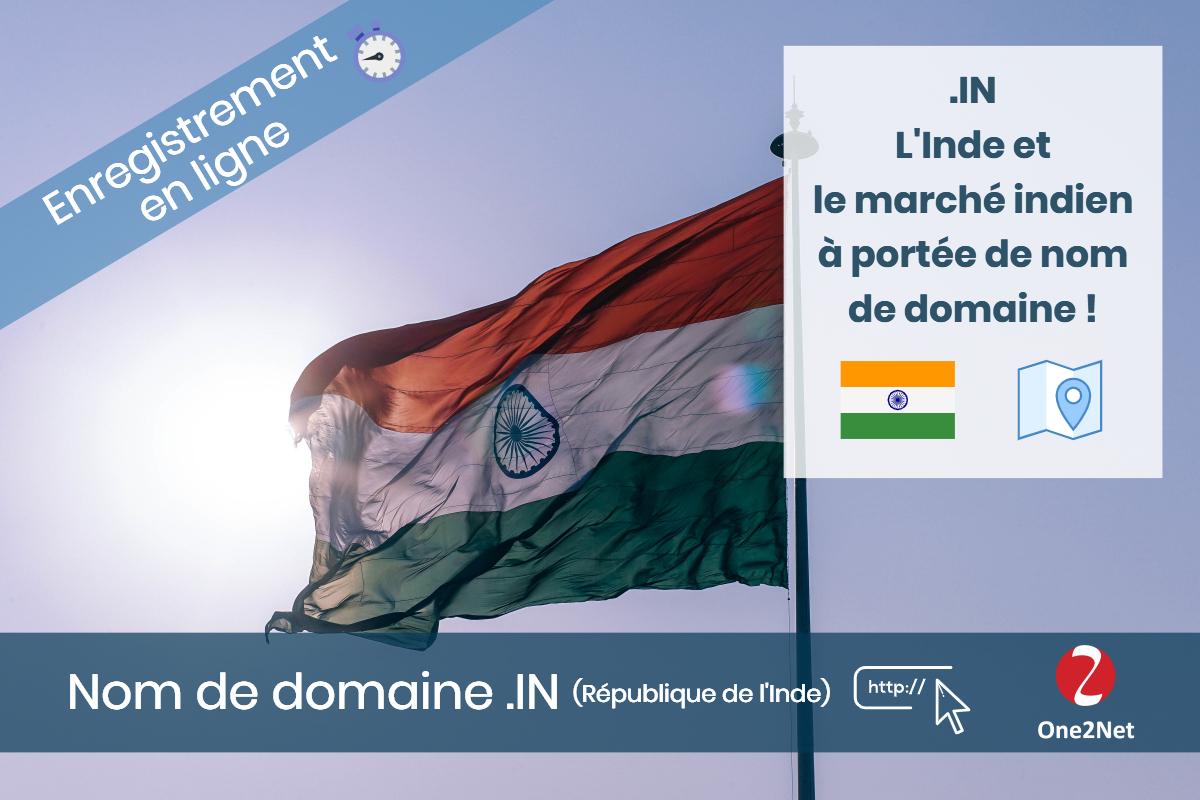 Nom de domaine .IN (République de l'Inde) - One2Net