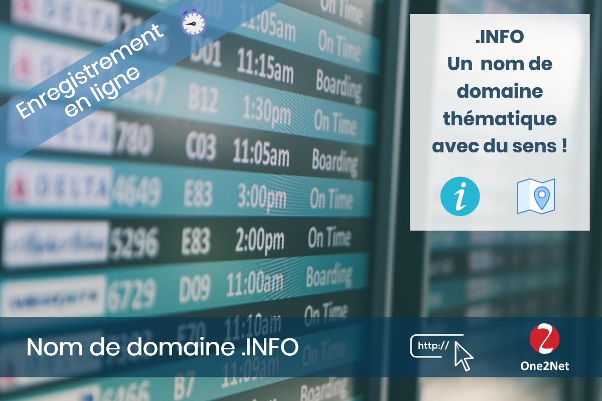 Nom de domaine .INFO - One2Net