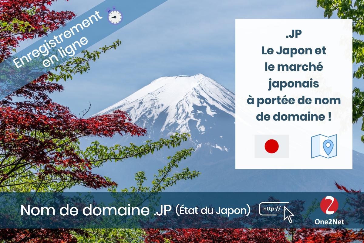 Nom de domaine .JP (État du Japon) - One2Net