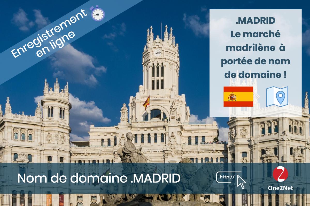 Nom de domaine .MADRID - One2Net