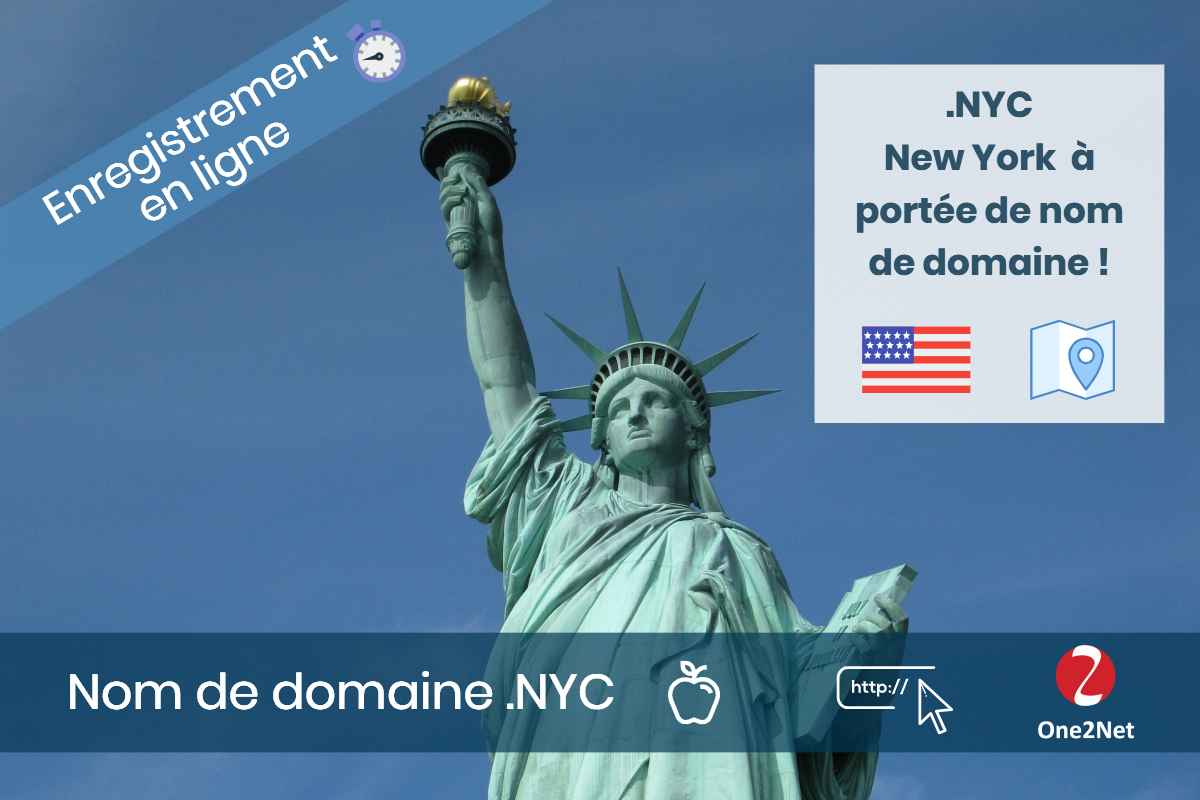 Nom de domaine .NYC (Ville de New York) - One2Net