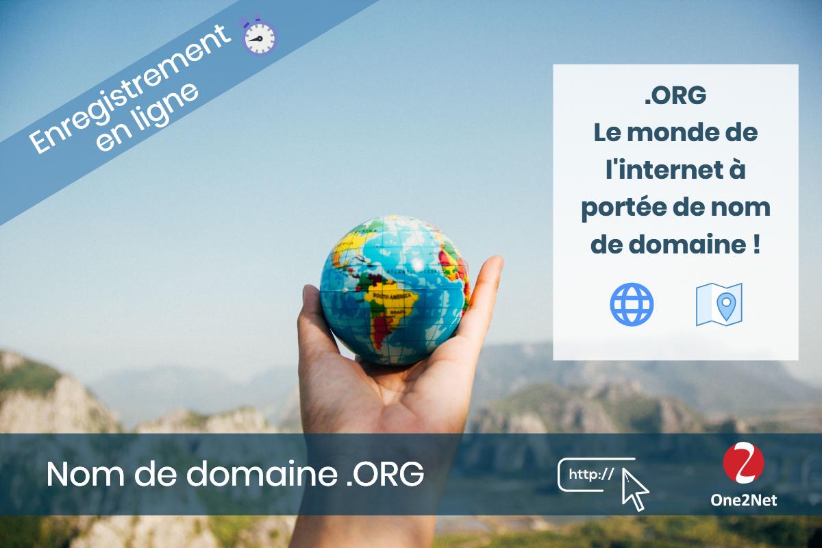 Nom de domaine .ORG - One2Net