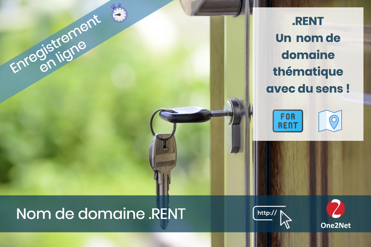 Nom de domaine .RENT - One2Net