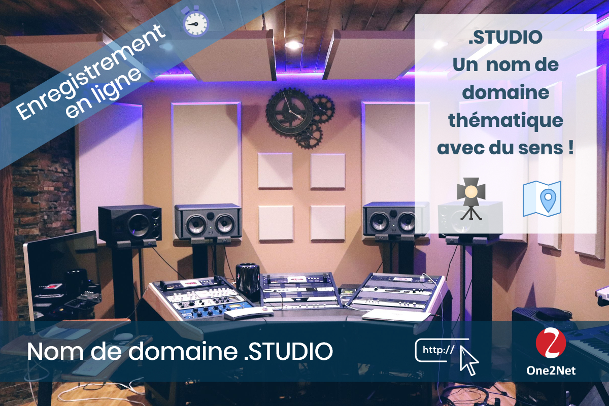 Nom de domaine .STUDIO - One2Net