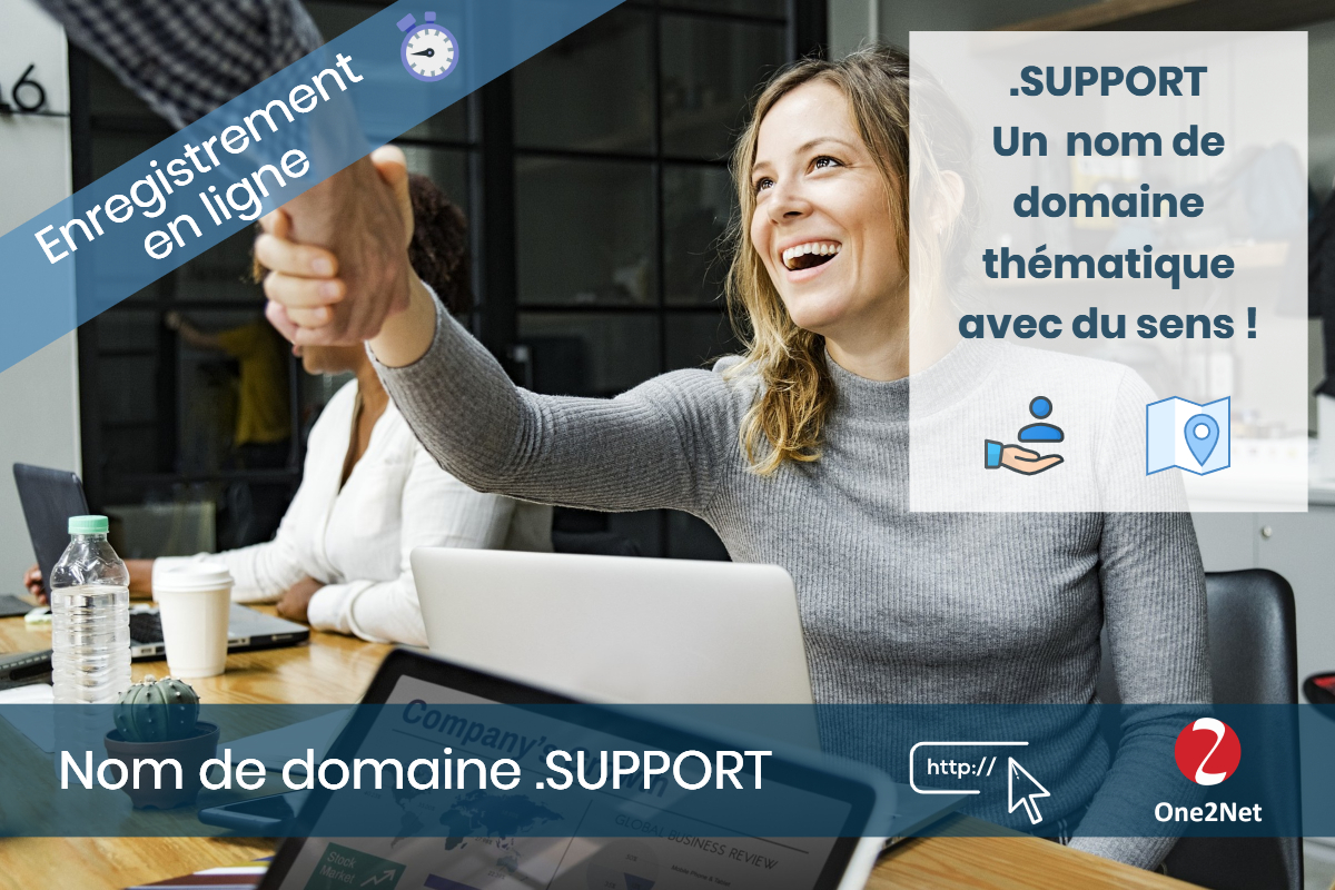 Nom de domaine .SUPPORT - One2Net