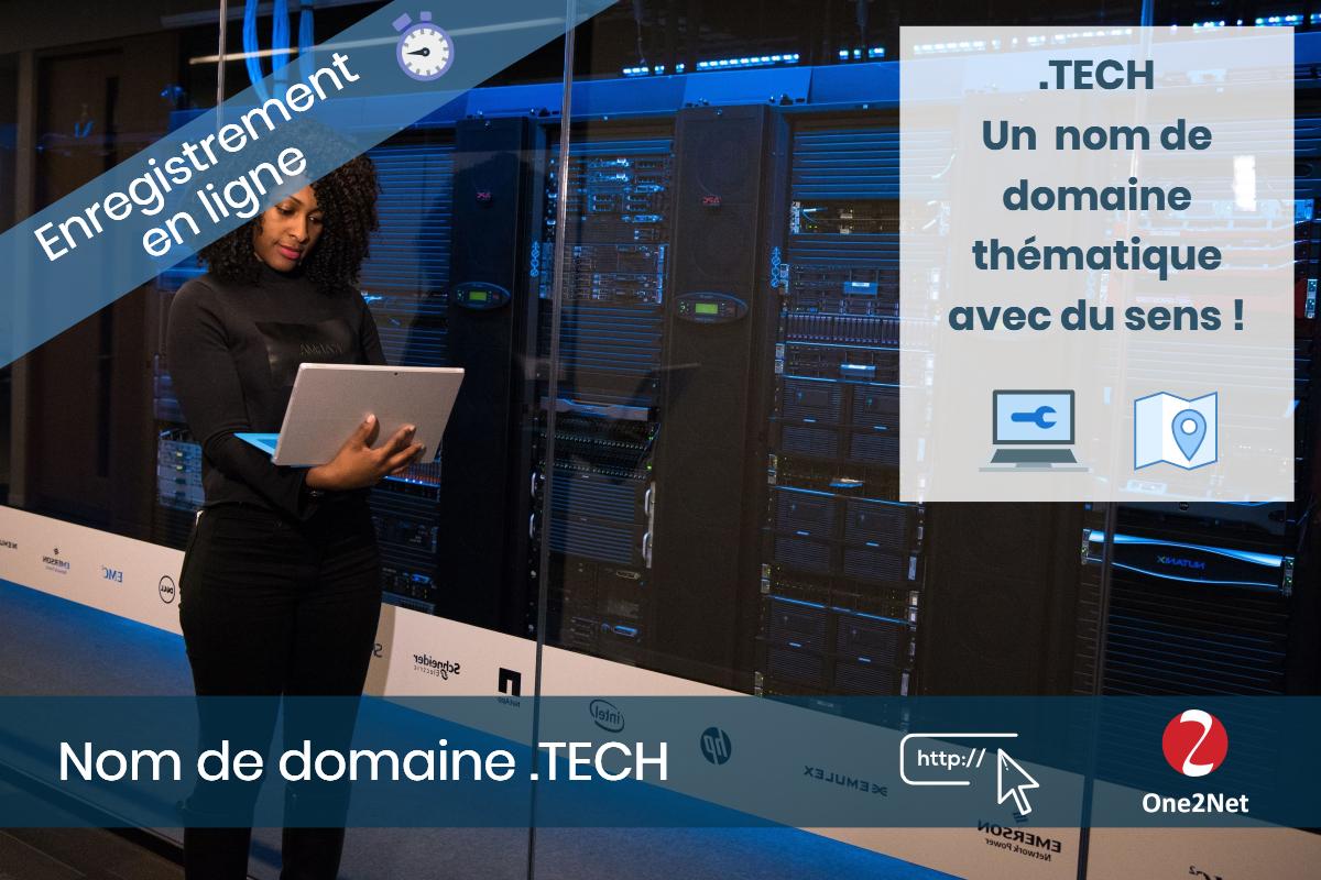 Nom de domaine .TECH - One2Net
