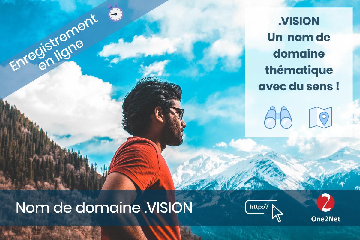 Nom de domaine .VISION - One2Net