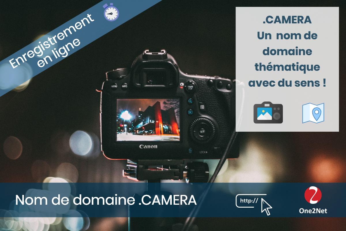 Nom de domaine .CAMERA - One2Net