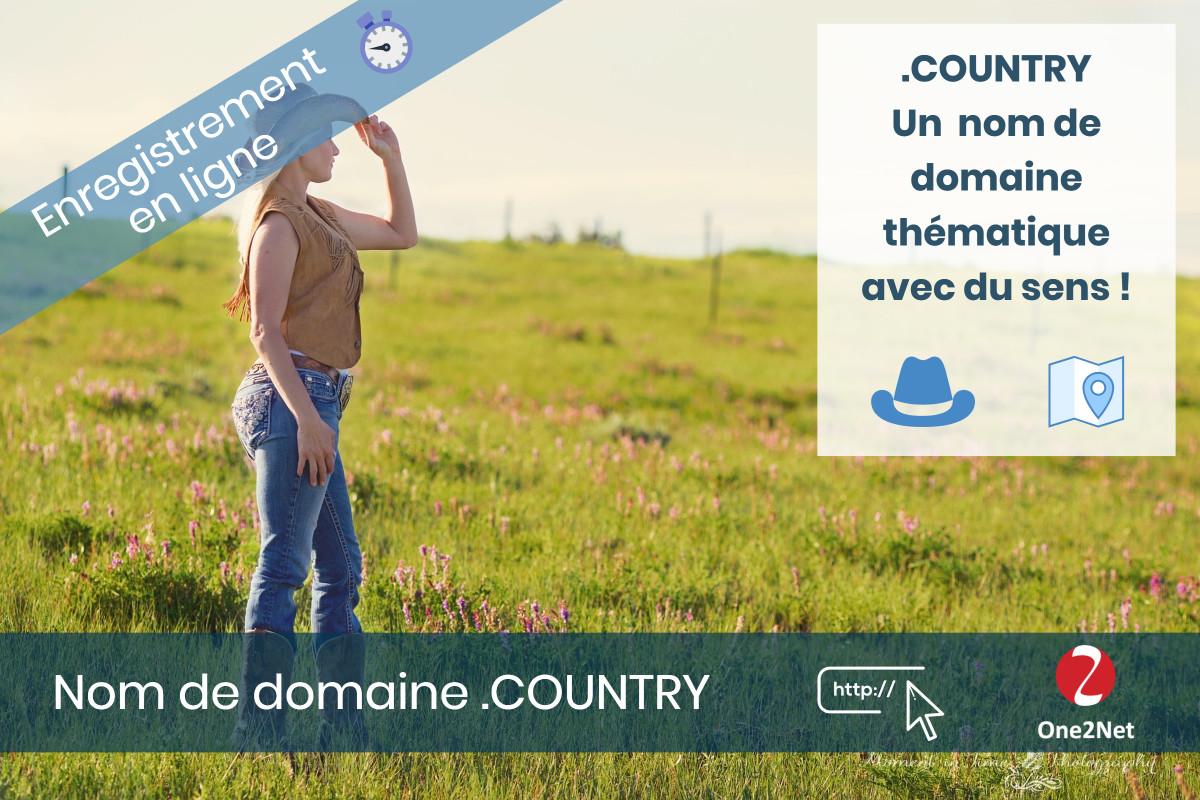 Nom de domaine .COUNTRY - One2Net