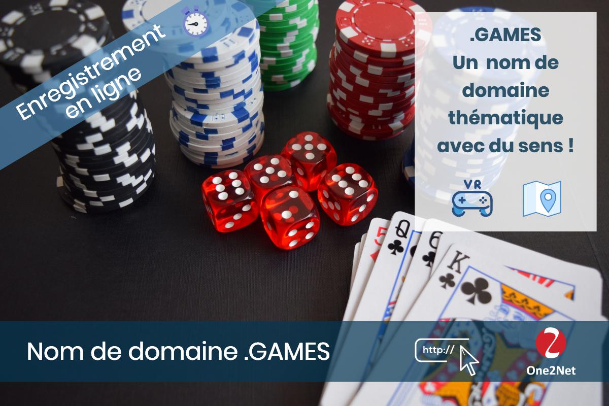 Nom de domaine .GAMES - One2Net